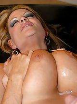 Hard Nipples, Ryan Madison cums all over Kelly's big tits!