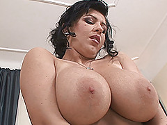 Huge.Tits Vids: Big, bouncy-breasted Kora toys and poses for you