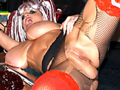 Bouncing Boobs, Nurse Kelly satisfies the Dr. with her big ass tits and a blow job.