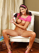 nice tits, Busty August Ames Gaping Pussy for Cervix Shots
