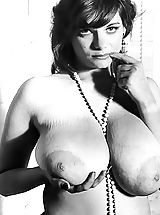 Vintage Pics: Big Busty Porn Stars Of Males Magazines of 1950-1970 - Vintage Pics of Girls with Very Big Breasts All Naked Porn