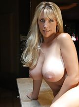 tits nice, Big Breasted Slut Wifey in Kitchen