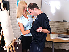 Bigtits Officesex, Camryn Cross & Ralph Long as Sexy Teacher