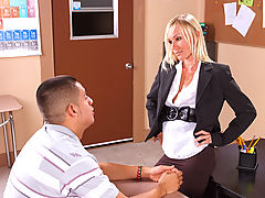Bouncing Boobs, Caresse & David Loso as Sexy Teacher