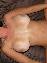nice titis, Kelly Madison and Ryan fuck Lucky Benton while she's doing the splits.