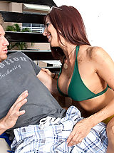 Naughty America Pics: Lucky guy cools off with his friends hot mom