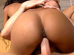 nice juggs, Kelly and Ryan bring home the stunning Misty Stone to fuck and release multiple loads all over her face and tits.