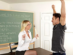 Bouncing Boobs, Anita Blue & Johnny Castle as Sexy Teacher