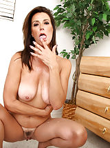 Anilos milf gets bent over her dresser and fucked hard