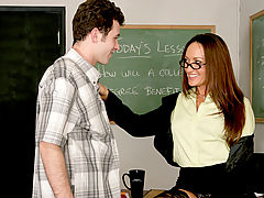 Bigtits Officesex, Michelle Lay & James Deen as Sexy Teacher