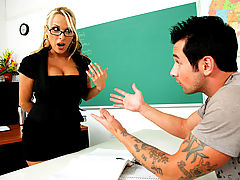 Bigtits Officesex, Holly Halston & Joey Brass as Sexy Teacher