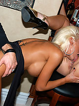 Busty Photo, Kelly Madison and Krystal Steal eat some pussy and get revved up for some cock sucking and riding.