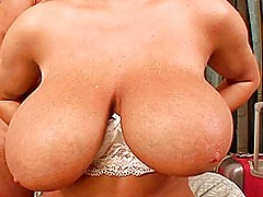 Asian Boobs, Big boobed Jannete getting tit fucked and jizzed