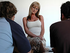 Bouncing Boobs, Allison Kilgore & James Deen as Sexy Teacher