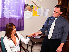Bigtits Officesex, Monique Fuentes & Alec Knight as Sexy Teacher
