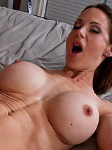 Naughty America, Hot brunette MILF loves to swallow cock and take a good fucking.