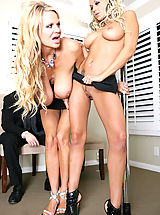 Milf Pics: To help ring in the new year, Briana Blair came by for a quick pole dance and then to fuck Ryan's pole