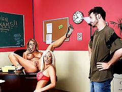 Office Vids: Trina Michaels, Lachelle Marie & James Deen as Sexy Teacher