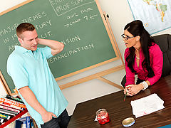 Bouncing Boobs, India Summer & Ryan Blaze as Sexy Teacher