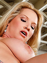 Lesbians Pics: Busty milf Rachel Love gets pounded by a young cock