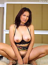 Sexy Busty, Asian Women nancy ho tits 10 hanging tits sheer lingerie