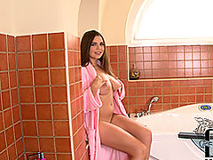 Big.Tits Vids: Brunette Babe Worships Your Cock