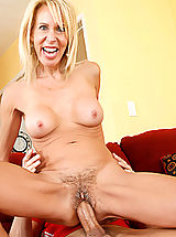 Naughty America Pics: Horny blonde mom Erica Lauren cant get enough cock