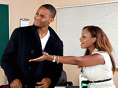 Bigtits Officesex, Sinnamon Love & CJ Wright as Sexy Teacher