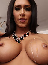 Very Busty, Hot Jessica Jaymes sleeps with her friends big cocked husband.