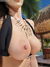 nice tittys, Bare Sexy Adulteress 947 Breanne Benson shows those tremendous boobs
