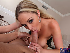Big Tits Porn, Busty blond Katie Kox celebrates her anniversary by fucking and sucking her husbands big dick.