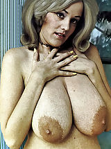 Historic Photos Of the Biggest Bust Owner Showing Her Mammoth boobies and Hairy Crotch in Photos Shot Back In 1960s