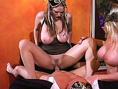 Group Sex, Content of Jaime Brooks - My husband and I attended a masquerade party. It was great dressing up and wearing masks. The best part was having a sexy stranger join us downstairs for a little crazed, masked sex adventure...