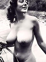 Busty Vintage, Naturism of Today and Yesterday in Photo Collection Featuring the Hottest Naked Naturist Groups and Spreading Girls
