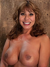Big.Tits Pics: Hot MILF with huge tits, bound and made to suck cock! Elbows together, crotch rope and a good face-fucking. Left on floor to struggle for freedom.