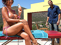 Busty Babes, Brazzers Porn The Gardener's Touch