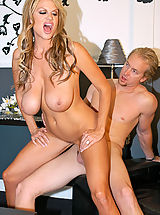 Huge Tits, Kelly try's on outfits for Ryan, he gets so horny he fucks her right there.